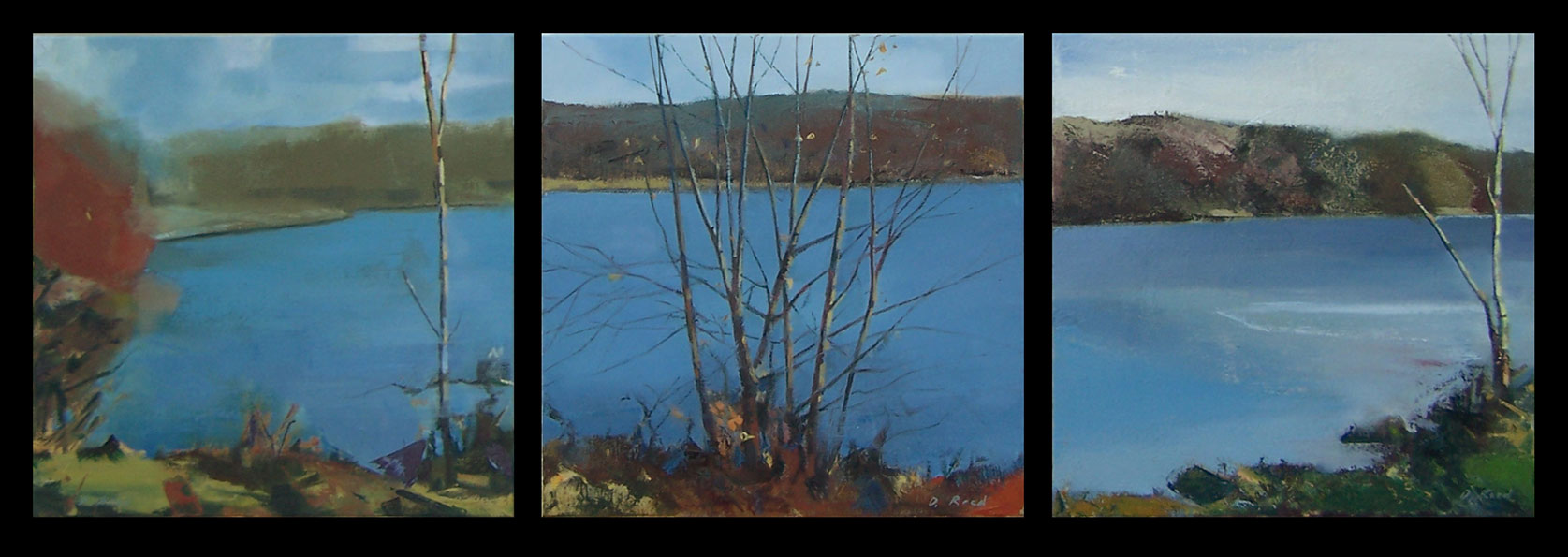 David Reed_Hargus Lake Triptych
