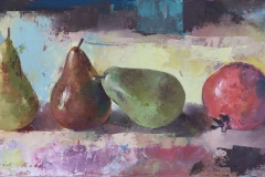 Three Pears and a Pomegranite